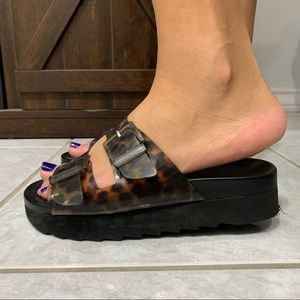Zara Jelly Platform Sandals